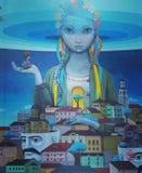 Art public de femme à Kiev Photo stock