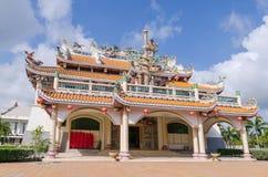 Art public de vieux temple chinois dans Pataya Thaïlande Photographie stock