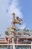 Art public de vieux temple chinois dans Pataya Thaïlande Photographie stock libre de droits