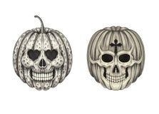 Art Pumpkin Skulls Photos libres de droits