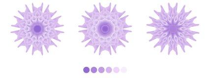 Art Purple Spring Floral, Vektorentwurf, purpurrot stock abbildung