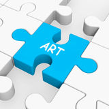 Art Puzzle Shows Arts Artistic Artist And Artwork. Art Puzzle Showing Arts Artistic Artist And Artwork Royalty Free Stock Images