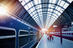 Art railway station royalty free stock photography