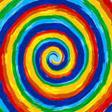 Art rainbow abstract swirl vector background Royalty Free Stock Photos