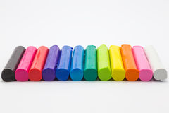 Art rainbow of clay colours, creative craft product Royalty Free Stock Images