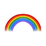 Art rainbow color brush stroke  Stock Images