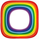 Art rainbow frame abstract vector background Stock Photos