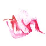 Art Red, chiazza della pittura dell'inchiostro di pinkwatercolor acquerella Fotografia Stock Libera da Diritti