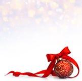 Art Red Christmas bal Stock Photos
