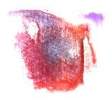 Art Red, de donkerblauwe, violette verf van de waterverfinkt Royalty-vrije Stock Afbeeldingen