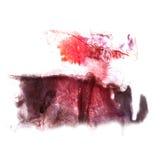 Art Red, de vlek van de de inktverf van de Bordeauxwaterverf Stock Afbeeldingen