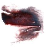 Art Red, de zwarte, donkerblauwe verf van de waterverfinkt Royalty-vrije Stock Afbeeldingen