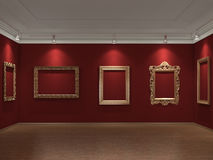 Art red gallery, Stock Image