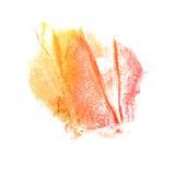 Art Red, gele de verfvlek van de waterverfinkt Royalty-vrije Stock Fotografie