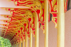The art Red and gold Royalty Free Stock Photography