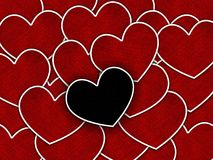Art red heart pattern background. Art red heart pattern illustration background Stock Photos