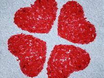 Red heart on white background. Art red heart on white background royalty free illustration
