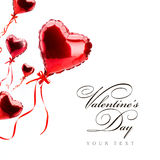 Art red  hearts on white, valentines day concept Stock Images