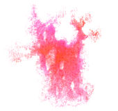 Art red, purple watercolor ink paint blob Royalty Free Stock Images