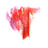 Art Red, roze de verfvlek van de waterverfinkt Stock Fotografie