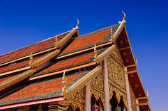 Art of religion. Hariphunchai temple,in Lumphun Thailand Royalty Free Stock Photos