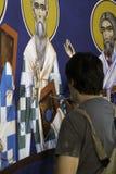 Art, Religion, Mural, High Priest stock photo