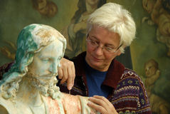 Art restoration stock images