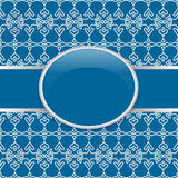 Art retro blue ornate cover Royalty Free Stock Photography