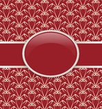 Art retro red ornate cover Royalty Free Stock Photos