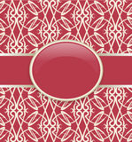 Art retro red ornate cover Stock Photo