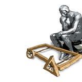 ART. Rodin en Moebius stock fotografie