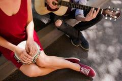Art roman de musique de date d'interprète de rue Photo libre de droits