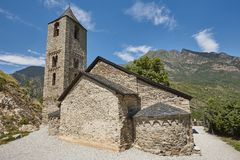 Art roman espagnol Sant Joan de Boi Church catalonia image stock