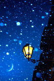 Art Romantic Christmas-avond Stock Afbeelding
