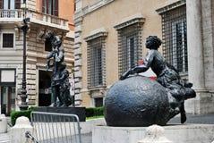 Art in the Rome city street near Trevi fountain Royalty Free Stock Photo