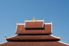 Art Roof of Wat Mai Royalty Free Stock Photo