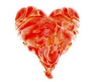 Art rouge de coeur Photos stock