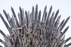 Art, royal throne made of iron swords, seat of the king, symbol Royalty Free Stock Image
