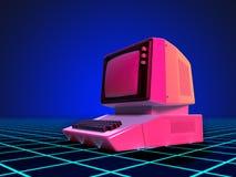 Art 80s Personal-Computer Lizenzfreie Abbildung