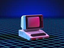 Art 80s Personal-Computer Stock Abbildung
