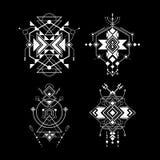 Art sacré de Navajo de la géométrie Photographie stock
