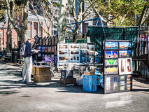 Art Sale in the Park Royalty Free Stock Photography