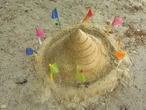 Art of sand pagoda is the oldest traditions of Thailand.  Stock Photos