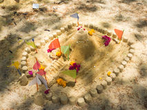 Art of sand pagoda is the oldest traditions of Thailand Stock Photo
