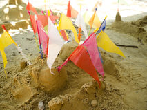 Art of sand pagoda is the oldest traditions of Thailand Stock Image