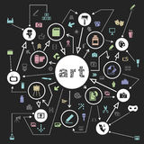 Art the scheme Royalty Free Stock Photography