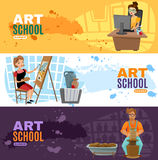 Art School Banners Set Immagine Stock
