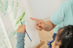 Art school concept royalty free stock photography