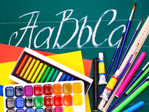 Art school supplies. Stock Images