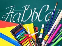 Art school supplies. Stock Photo